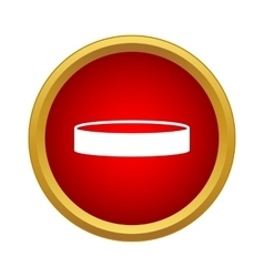 Professional hockey puck icon simple style vector