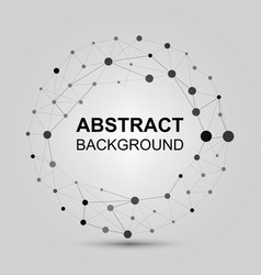 Abstract background with dots and lines vector