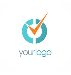check mark choice logo vector image
