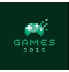 Consoles joystick gaming pixels flat style vector