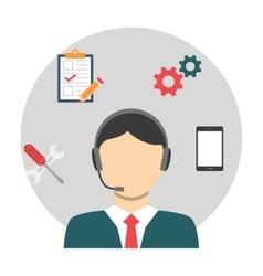 Customer service concept vector