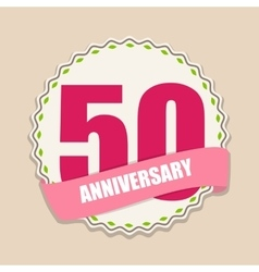 Cute template 50 years anniversary sign vector