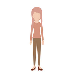 faceless woman full body with blouse long sleeve vector image