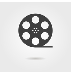 film reel icon with shadow vector image
