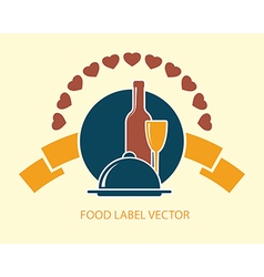 food label abstract vector image vector image