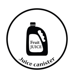 Fruit juice canister icon vector image