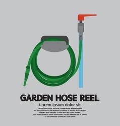 Garden hose reel vector