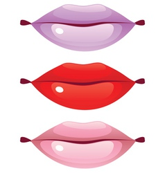 Glossy Lips vector image vector image