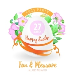 Happy easter flyer or poster background vector image vector image