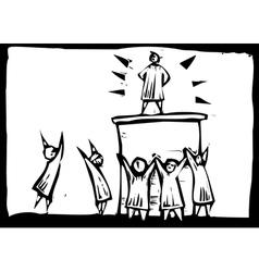 Hero Worship vector image vector image