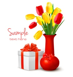 holiday background with flowers vector image