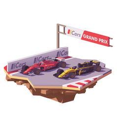low poly formula race vector image