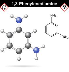 Meta phenylenediamine moelcular structure vector