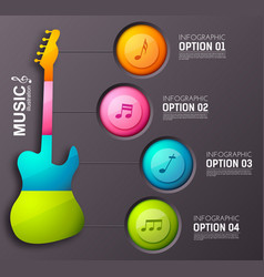 Music design infographic concept vector