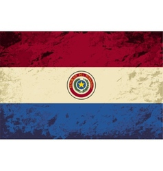 Paraguayan flag Grunge background vector image vector image