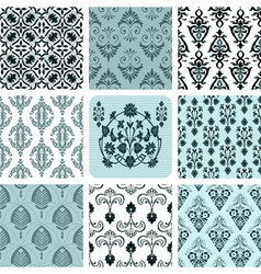 Retro set backgrounds vector