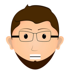 serious man avatar vector image