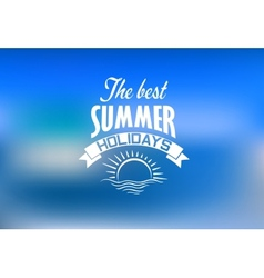 Summer holidays banner vector image vector image