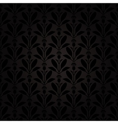 Thistle pattern black vector