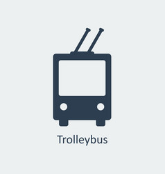 trolleybus icon silhouette icon vector image vector image