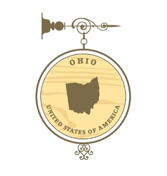 Vintage label Ohio vector image