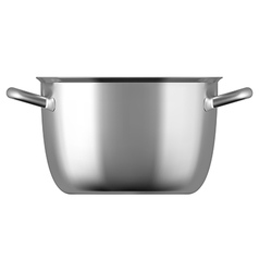 Steel cooking pot vector