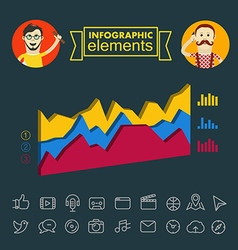 Business infographic elements clip-art vector image