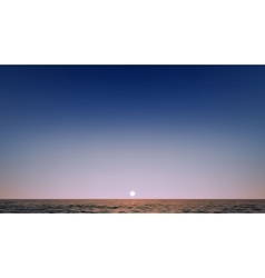 Realistic Beautiful sunset above the sea vector image