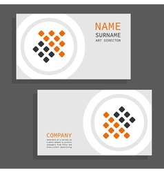 The card vector image