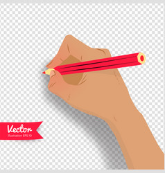 Top view of female hand vector