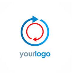 Arrow round circle logo vector