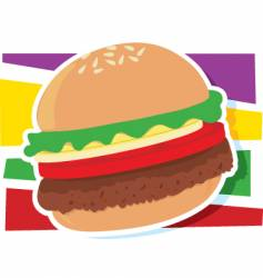 hamburger graphic vector image