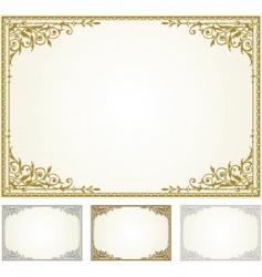 ornamental frame set vector image