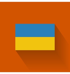 Flat flag of ukraine vector