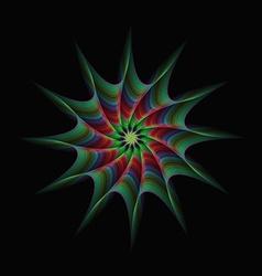 Starburst abstract design vector