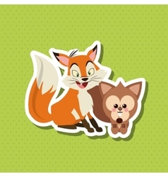 Animal cartoon design  editable vector