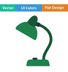 Flat design icon of lamp vector
