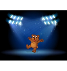 A bear with spotlights vector image