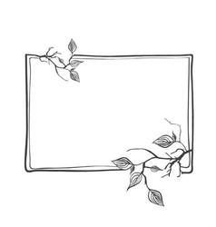 Abstract branch frame with leaves and copyspace vector