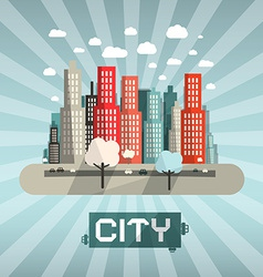 Abstract Flat Design City vector image vector image