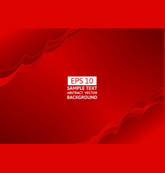 Abstract red wave overlap background with copy vector
