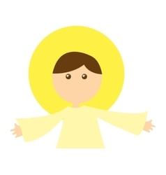 Angel manger character christmas vector