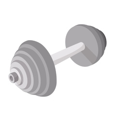 Barbell cartoon icon vector image