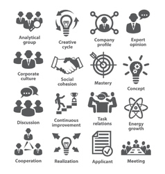 Business management icons Pack 14 vector image vector image