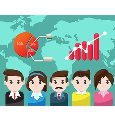 Business people for teamwork success vector