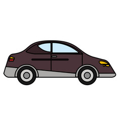 Car sedan vehicle transport vector