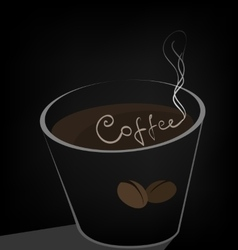 coffee cup on a dark background vector image