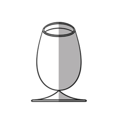 Cup glass drink beverage alcohol shadow vector