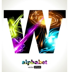 Design Abstract Letter W vector image
