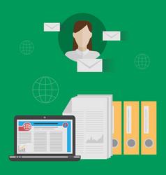 e-mail marketing concept vector image